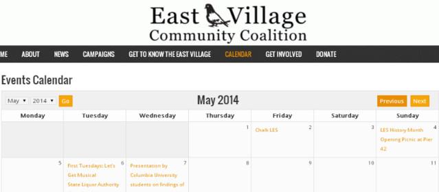 Community Calendar Now Live!